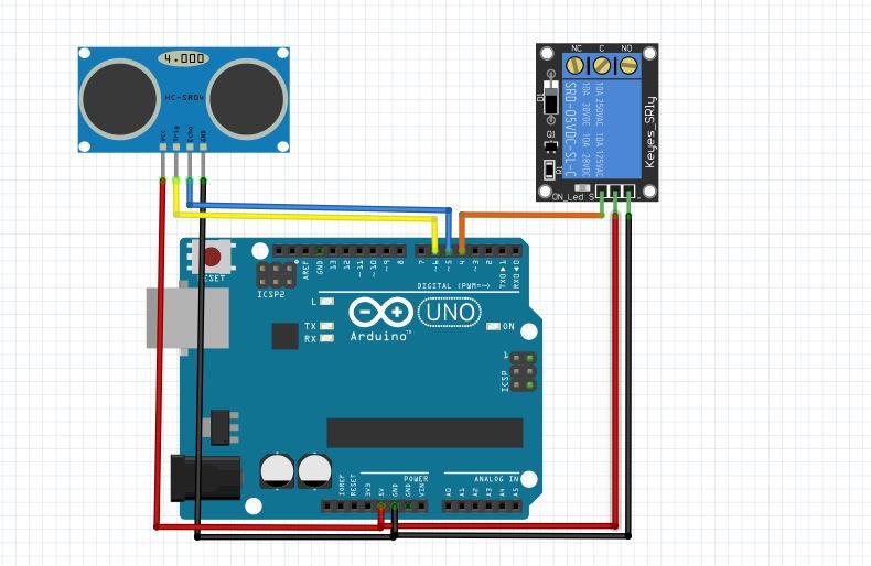 Tutorial Arduino Mengakses Sensor Ultrasonik HC-SR04 dan Relay